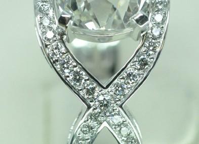 Bague croisé diamant taille ancienne