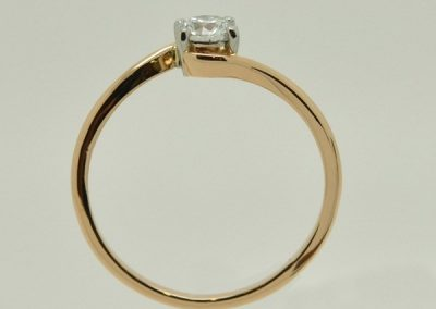 Solitaire tourbillon. Platine or rose – 1/2