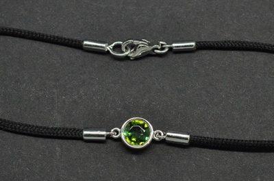 Bracelet tourmaline verte monté sur or blanc