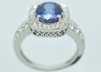 Monture saphir diamants