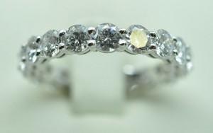Alliance diamants tour complet or blanc