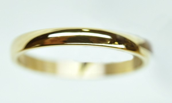 Alleluia yellow gold wedding ring