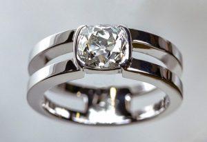 solitaire double anneau