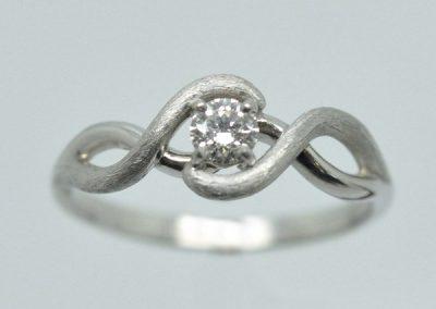 Bague « Cherche Moi »  monture diamants or blanc