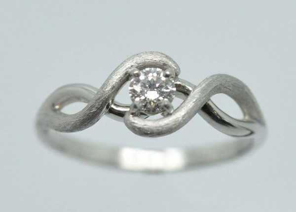 "White gold diamond frame Ring ""Look for me"""