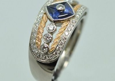 Bague « Empire » Saphirs diamants