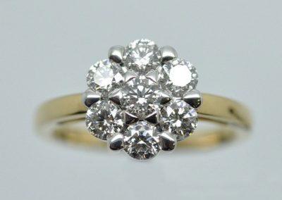 Bague « Etoile » diamants montés sur or blanc et or jaune