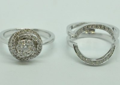 Alliance diamants selon une bague fournie par le client