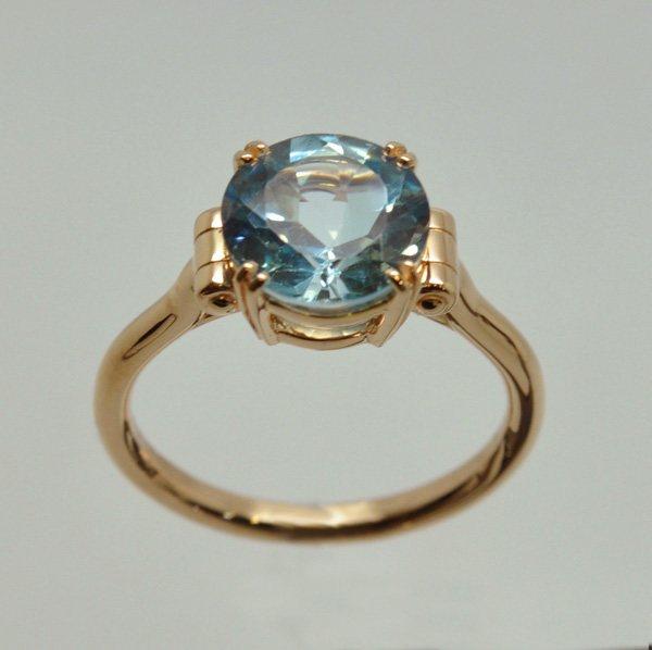Rose gold pivotal ring