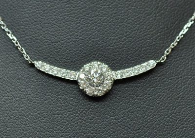 Pendentif « envole toi »  Diamants sur or blanc