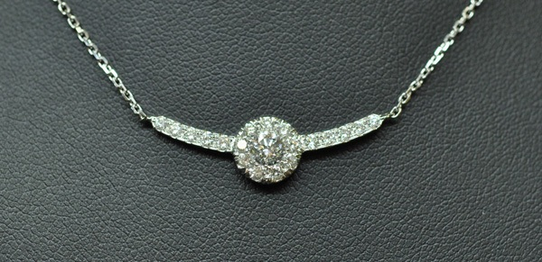 "Pendant ""fly away"" Diamonds on white gold"