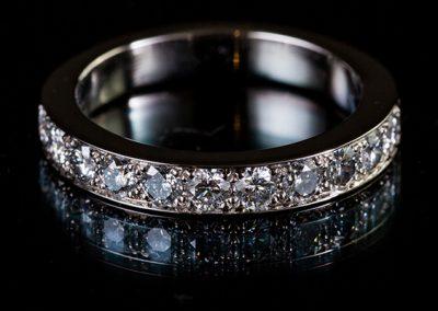 Alliance diamants, monture platine