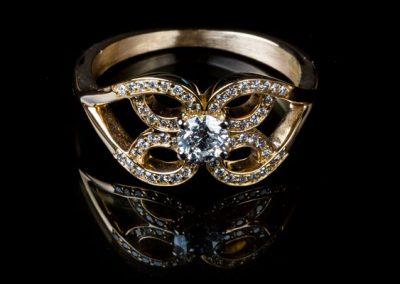 Bague Arabesque Diamant En Or Jaune