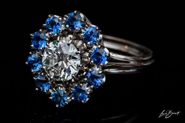 Arabesque Diamond Ring In Yellow Gold