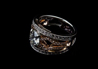 Bague Diamant Platine Et Or Rose