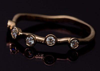 Bague Sertis Clos Diamant Or Rose